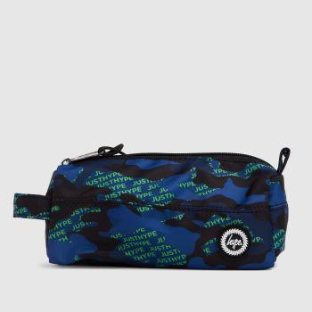 Hype Navy & Green Neon Logo Camo Pencil Case Bags