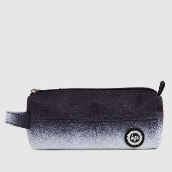 Hype Black & White Mono Specle Fade Pencil Case Bags