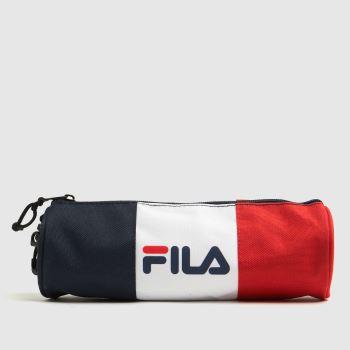 Fila Navy & Red Pencilla Pencil Case Bags
