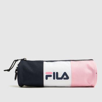 Fila Navy & White Pencilla Pencil Case Bags