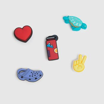crocs Multi Peace And Love 5 Pack Shoe Accessories