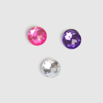 crocs Multi Sparkly Circle 3 Pack Shoe Accessories