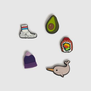 crocs Multi Jibbitz Young At Heart 5 Pack Shoe Accessories