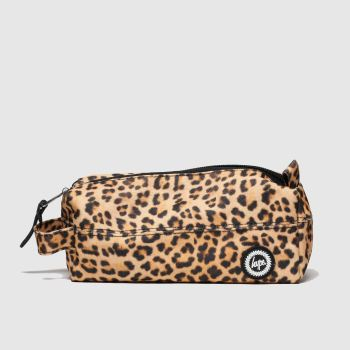 ACCESSORIES HYPE BROWN & BLACK PENCIL CASE