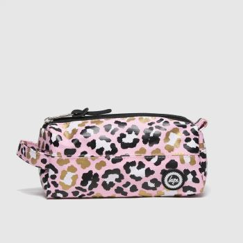 Hype Pink & Black Pencil Case Bags
