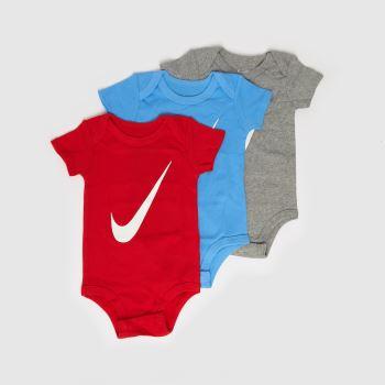 Nike Multi Baby Swoosh Bodysuit 3 Pack Apparel