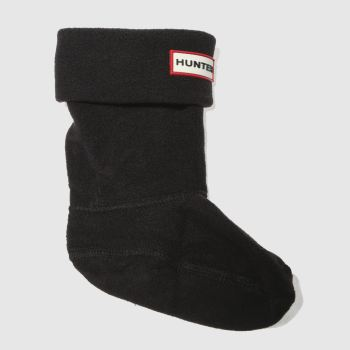 HUNTER Black Kids Fleece Welly Socks