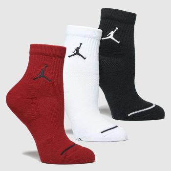 Nike Jordan Multi Kids Jumpman 3pk Socks
