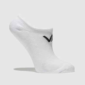 Vans White Kids Classic Kick 3pk Socks