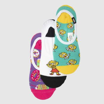 Vans Multi Simpsons Canoodles 3pk Socks