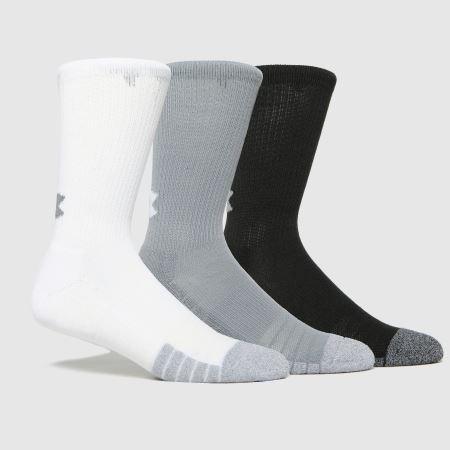 Under Armour Kids Heatgear Socks 3 Packtitle=
