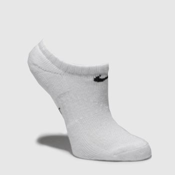 Nike White & Black Kids No Show 3 Pack Socks