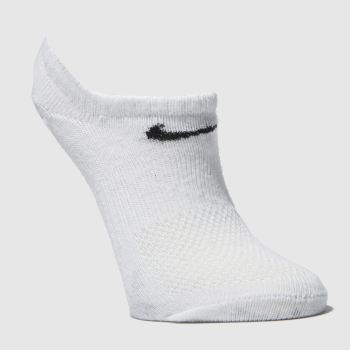 Nike White Kids No Show 3Pk Socks