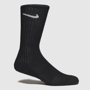 Nike Black & White Kids Cushioned Crew Socks