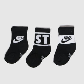 Nike Black & White Kids Jdi Crew 3pk Socks