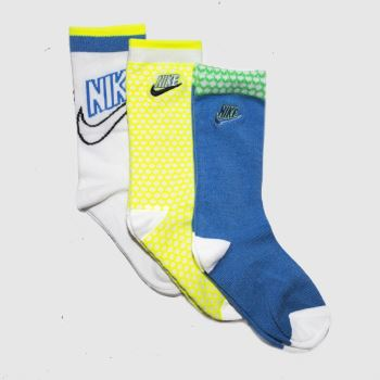 Nike Multi Kids Nsw Crew 3pk Socks
