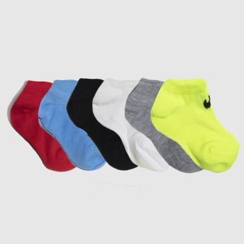 Nike Multi Kids Basic No Show 6pk Socks