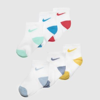 Nike Multi Toddler Pop Colour Ankle 6pk Socks