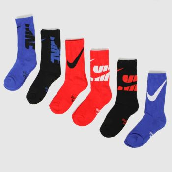 Nike Multi Kids Nsw Hbr Crew 6pk Socks