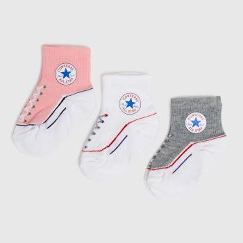 Converse Multi Kids Chuck Quarter 3pk Socks