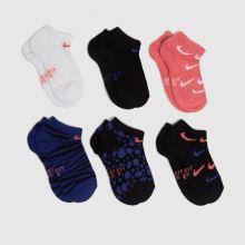 Nike Kids No Show Socks 6 Pack,1 of 4