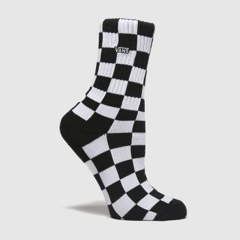 Vans Black & White Kids Checkerboard 1pk Socks