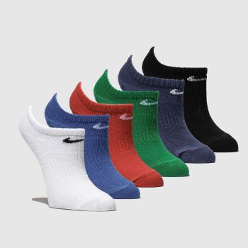 Nike Multi Kids No Show Sock 6 Pk Socks