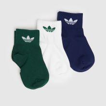 adidas Kids Ankle 3pk 1