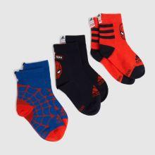 adidas Kids Spiderman Socks 3pk,1 of 4