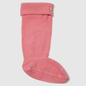 Hunter Pink Fleece Welly Sock Socken