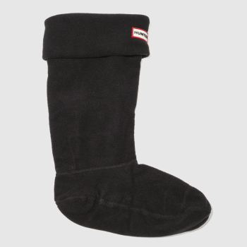 Hunter Black Fleece Welly 1pk Socks