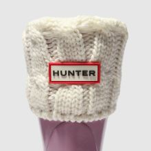 Hunter 6 stitch cable sock 1