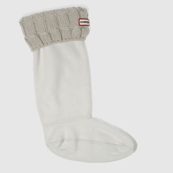 Hunter Light Grey 6 STITCH CABLE SOCK Socks