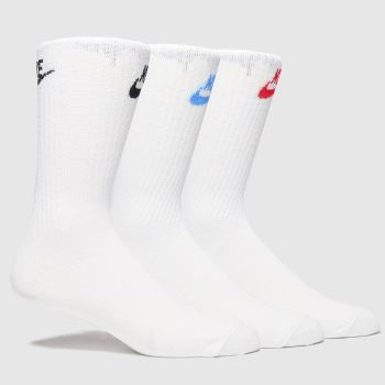Nike Weiß-Schwarz Everyday Essential 3pk Socken