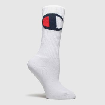 Champion White & Red Crew Socks 1pk Socks