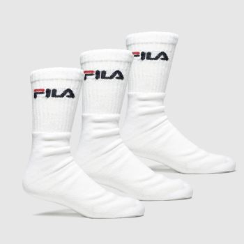 Fila White Crew Tennis Socks