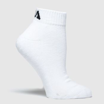 Fila White Quarter Half Terry 3pk Socks