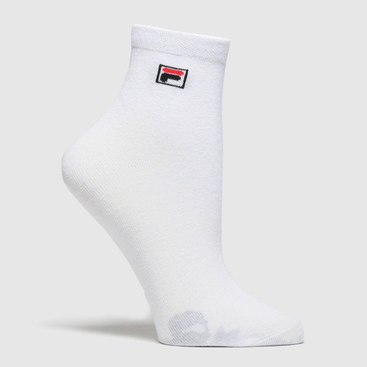 Accessories Fila White Quarter Socks 3 Pk