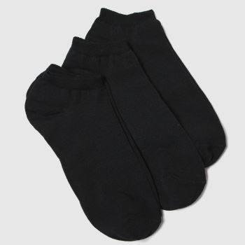 Schuh Black Trainer Socks 3pk c2namevalue::Socks