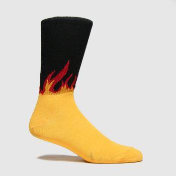 schuh Yellow Flame Crew Socks