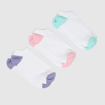 schuh White Trainer Socks 3 Pack Socks