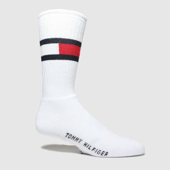Tommy Hilfiger White Flag 1pk Socks