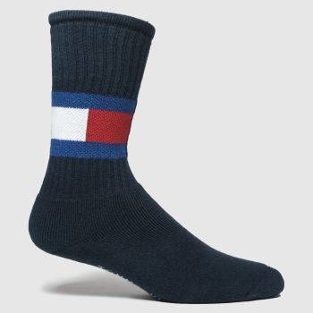 Tommy Hilfiger Navy Flag 1pk Socks