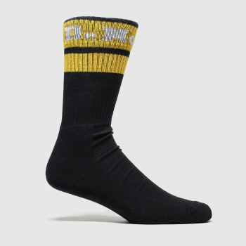 Dr Martens Black Athletic Logo Sock 1pk Socks
