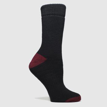 Dr Martens Schwarz-Rot Docs Sock 1pk Socken