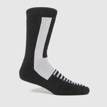 Dr Martens Black & White Double Doc Sock 1pk Socks