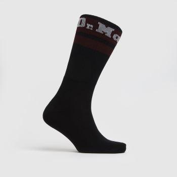 Dr Martens Black & Red Athletic Logo Sock 1 Pack Socks