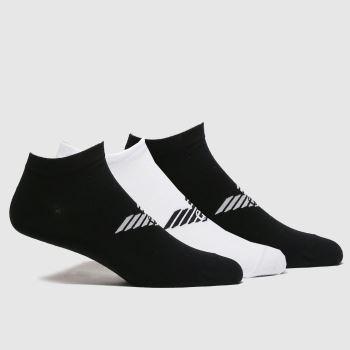 EMPORIO ARMANI Black & White Logo Socks 3pk Socks