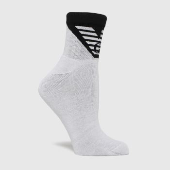 ARMANI Black & White 2 Pack N-shoe Socks