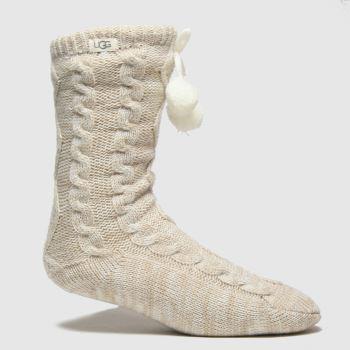UGG Natural Pom Pom Fleece Sock 1pk Socks